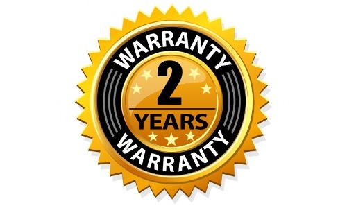 Hot tub warranty 2 years.