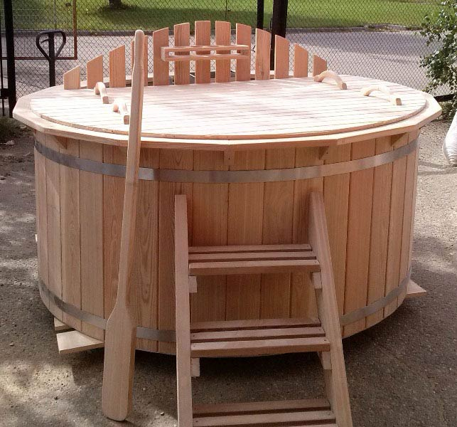 Larch hot tub