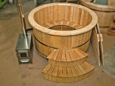 Houten hot tub lariks