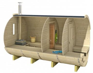 Houten barrel sauna