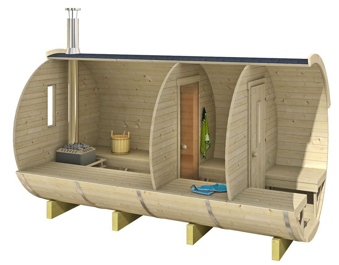 Prix D Un Sauna sauna baril rond| forest spa