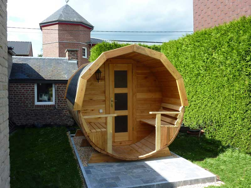 sauna baril exterieur forest spa