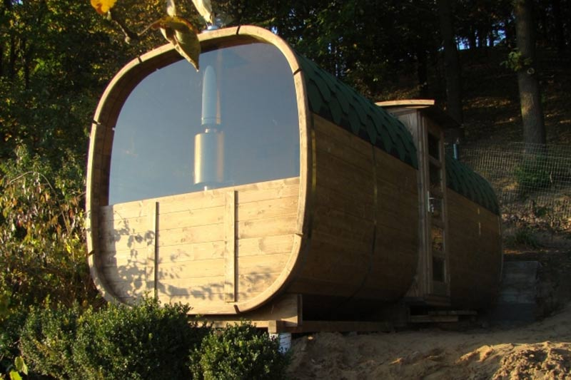 sauna baril exterieur forest spa