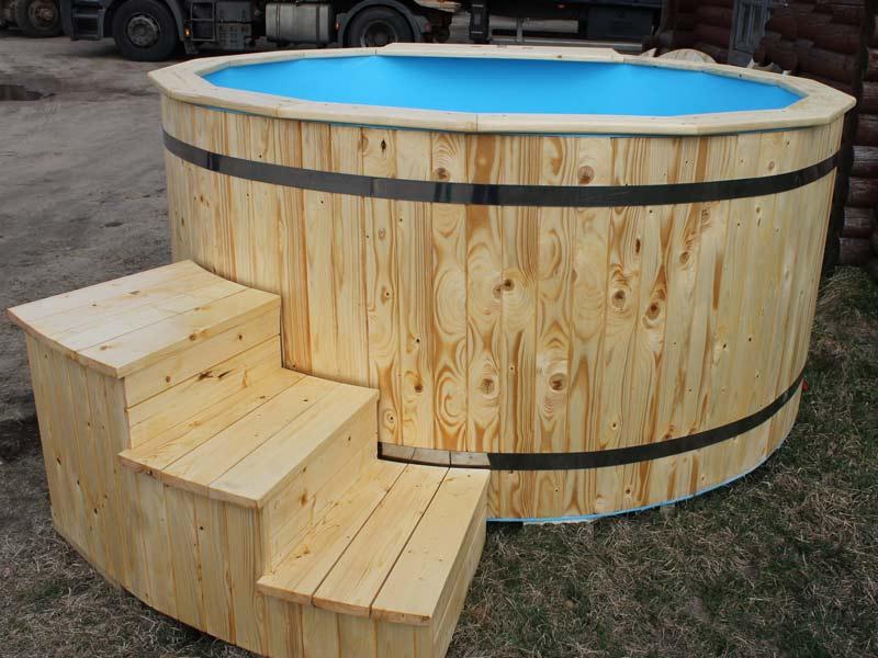 simple thermowood plastique noir bain nordique en bois. Black Bedroom Furniture Sets. Home Design Ideas