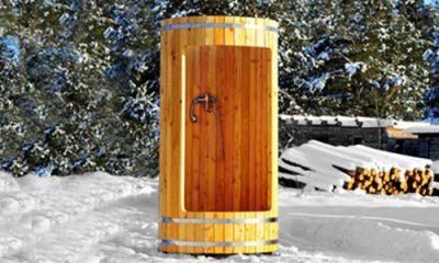Wooden shower