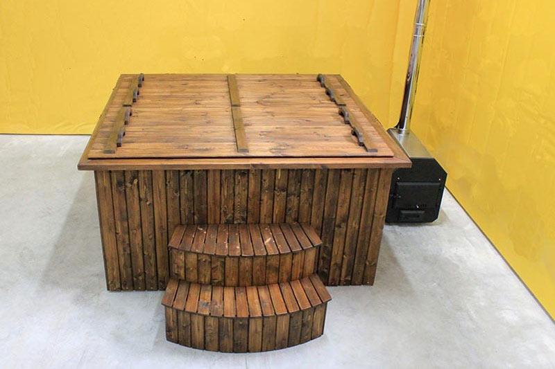 bain nordique rectangulaire forest spa. Black Bedroom Furniture Sets. Home Design Ideas