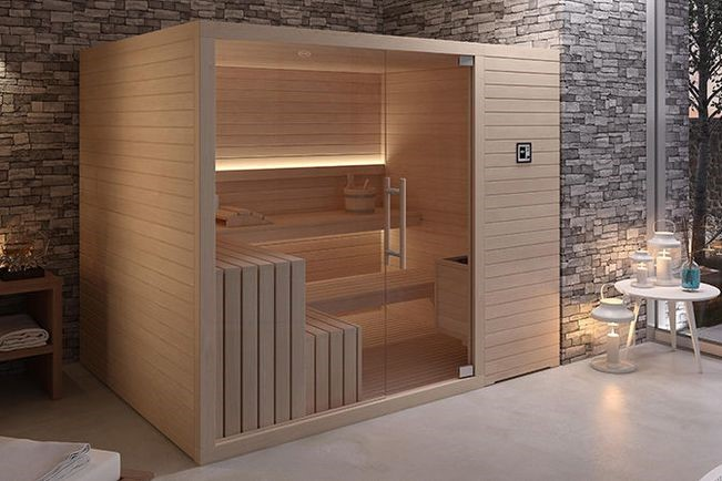 sauna interieur forest spa. Black Bedroom Furniture Sets. Home Design Ideas