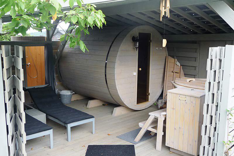 Sauna exterieur en bois baril barril tonneau