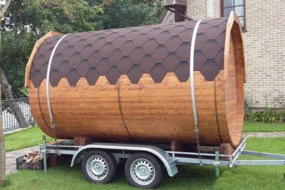 Sauna sur remorque