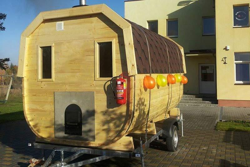 sauna remorque 4 forest spa. Black Bedroom Furniture Sets. Home Design Ideas