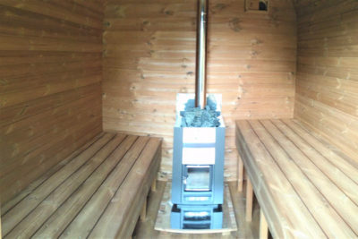 sauna baril rectangulaire