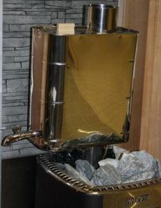 Chauffe-eau tubulaire sur la cheminée