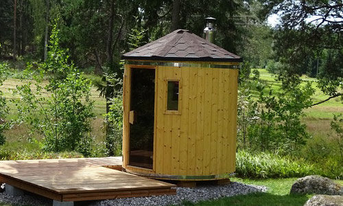 Sauna baril verticale