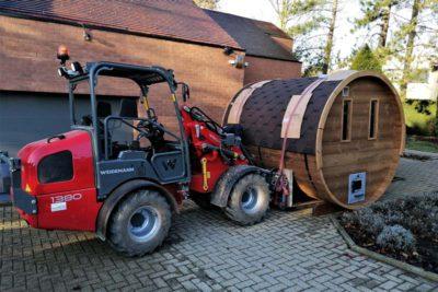 Transport sauna