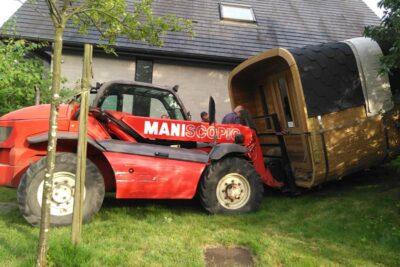 Transport sauna grue
