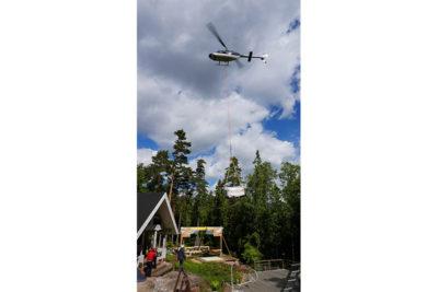 Transport bain nordique hélicoptère