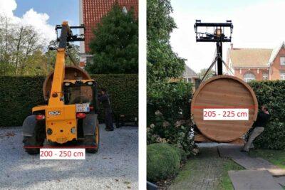 Transport sauna chariot