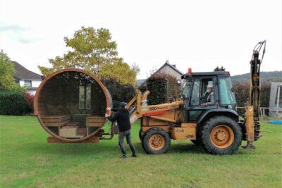 Transport sauna tracteur