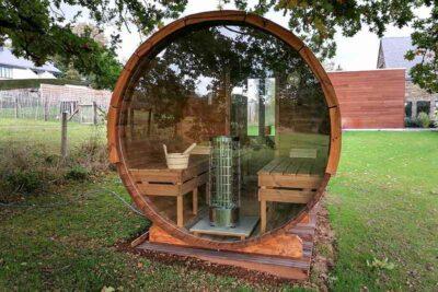 Sauna baril en bois