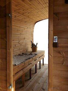 Sauna baril carre
