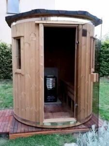 Sauna vertical en bois