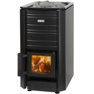Sauna exterieur en bois baril tonneau poêle Narvi 16 Black